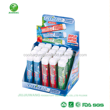 Cylindrical shape 9G-per stick mintly press candy