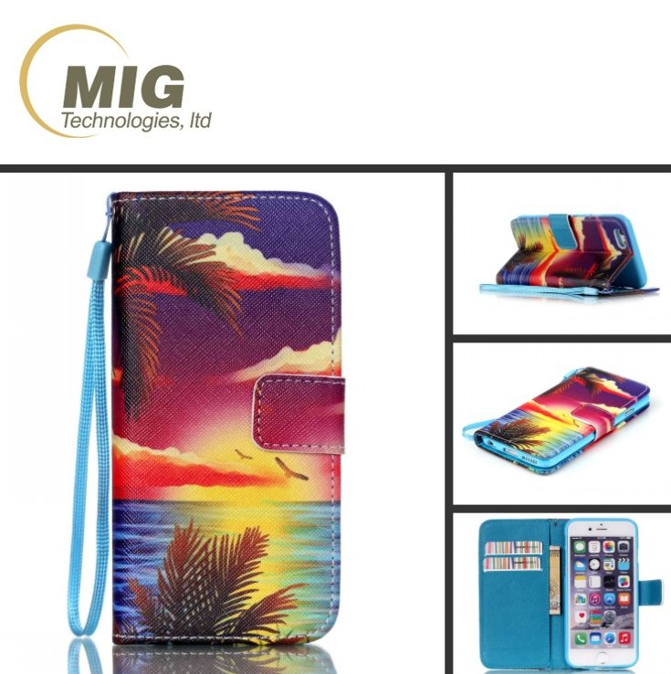 For iphone 6s pu leather case colorful wallet cell phone cover with stand for iphone 6s mobile phone case with hand strap
