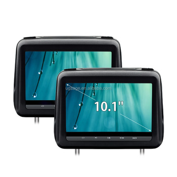 "XTRONS HD198HD 2x10.1"" big screen 1024*600 car headrest monitor with hdmi input, taxi back seat advertising, car head unit"