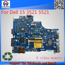 For Dell Inspiron 15R 3521 5521 Laptop motherboard CN-00P55V LA-9101P mainboard with i7 processor