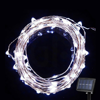Christmas Decoration Solar Powered LED Copper