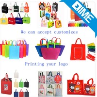 Promotional Cheap Customized Eco Fabric Tote Non-Woven Shopping Bag, Recyclable Non Woven Bags