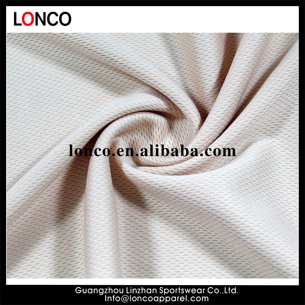 2017 New Circular Knitted Breathable 100% Polyester Honeycomb Mesh Sports Fabric For Jersey