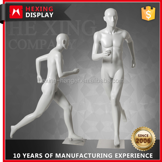 Running Mannequin Clothes Window Display Male Doll