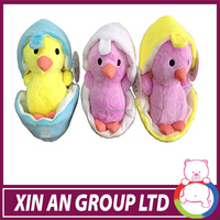 cute stuffed plush mini animated yellow chicken toys