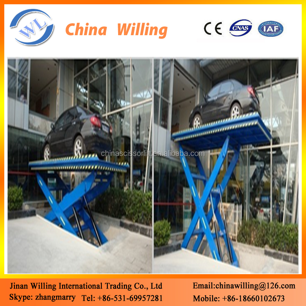 Cheap scissor car lift parking equipment double car lift for home garage