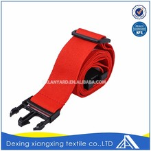 Create polyester adjustable red high attachment fasten colorful luggage strap