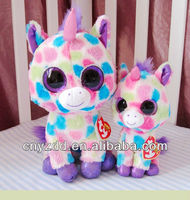 Ty big eyes colorful small unicorn plush toy / ty big eyed stuffed animals Best gift toys