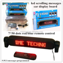 2015 Mexico safety alarm rolling messages in Spanish led bar display for car traffic
