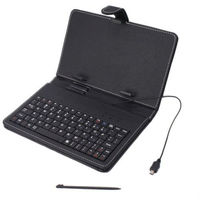 "7"" tablet pc/mid leather case with keyboard"