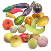 Wholesale artificial fruits with vegetables red and green pepper