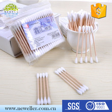 Colored two head points individually packed colourful cotton swab in various types