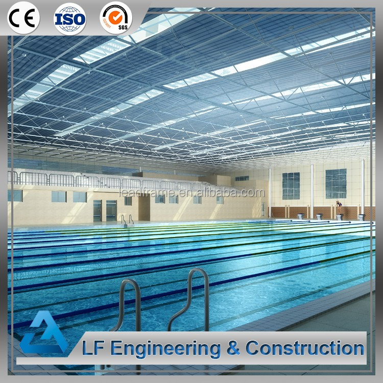 Galvanized Steel Swimming Pool Space Frame Structure