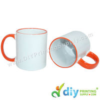 Colour Mug (Outer Orange) for Mug Printing Business