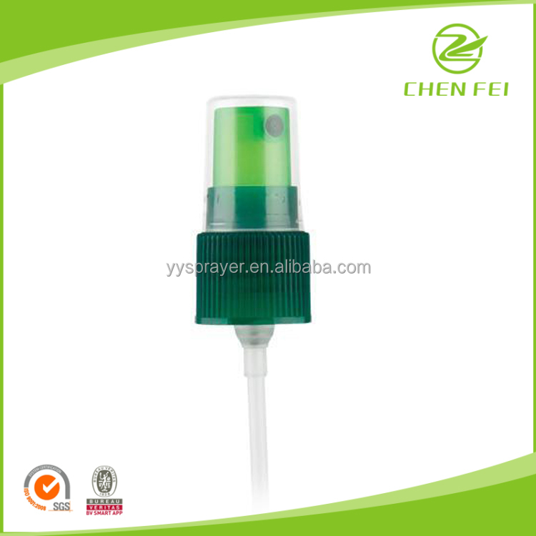 CF-M-2 Green Color transparent cover 20 410 moisturizing plastic fine mist water sprayer