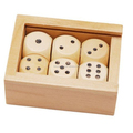 Custom Wooden Pieces and Dot Dice