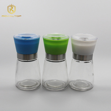 Attractive and durable glass pepper salt grinder