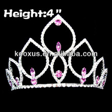 4 inch Pink Diamond Pageant Crowns