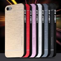 4s Hot Luxury Aluminum Metal Brush Case for iphone 4 4S Phone Accessories Hard Back Cover for iphone4 Original Logo