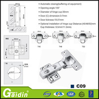 Best seller machine made medium bent hinge