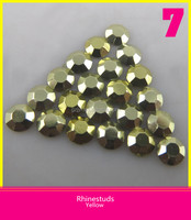Iron-on Rhinestud Hot Fix Stone Aluminum Octagon for Motif Transfer