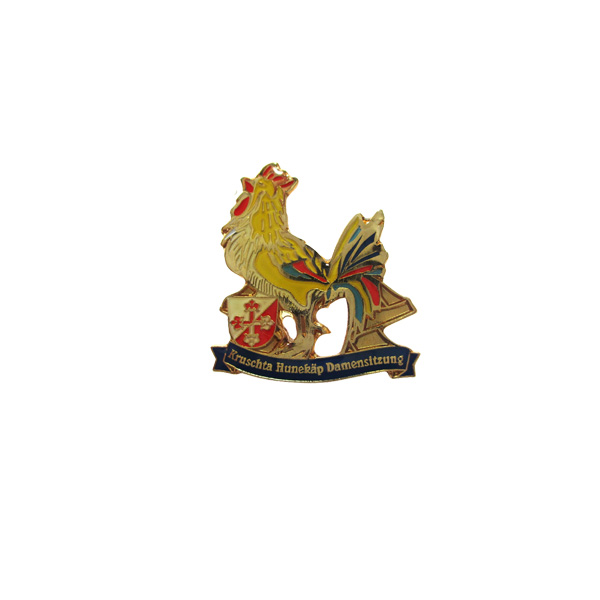 Cock style enamel pin, zinc alloy lapel pin, pin for souvenir