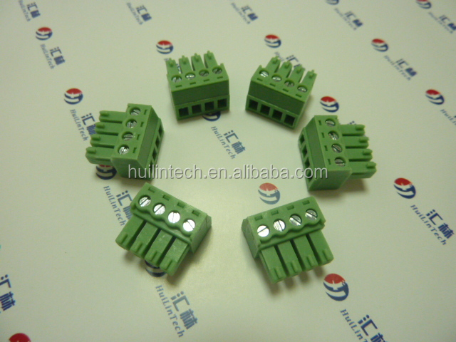 Pluggable screw electronics 3.5mm pin header dinkle connectors