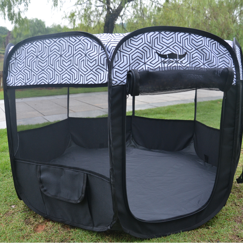 Pet Puppy Dog Playpen Exercise Pen Kennel Tent Play Pen Foldable Indoor Outdoor