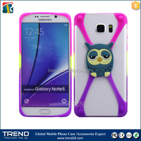 1~6 inches colorful 3d minions silicon frame bumper case for iphone 6 plus/note 5