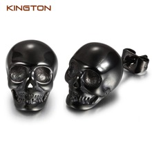 Custom skull cool men earrings,wholesale stud earrings jewelry china
