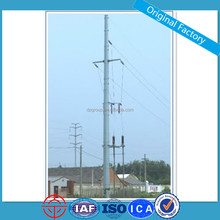 10KV 35KV Single Circuit Electric Transmission Steel Pole Price