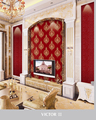 GOLOVE 2016 New design cheap price Decration deep embossed pvc wallpaper