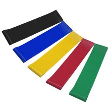 Workout/Physical Therapy/Stretching/Pilates/Yoga/Rehab Resistance Loop Bands, Set of 5 Home Fitness Exercise Bands