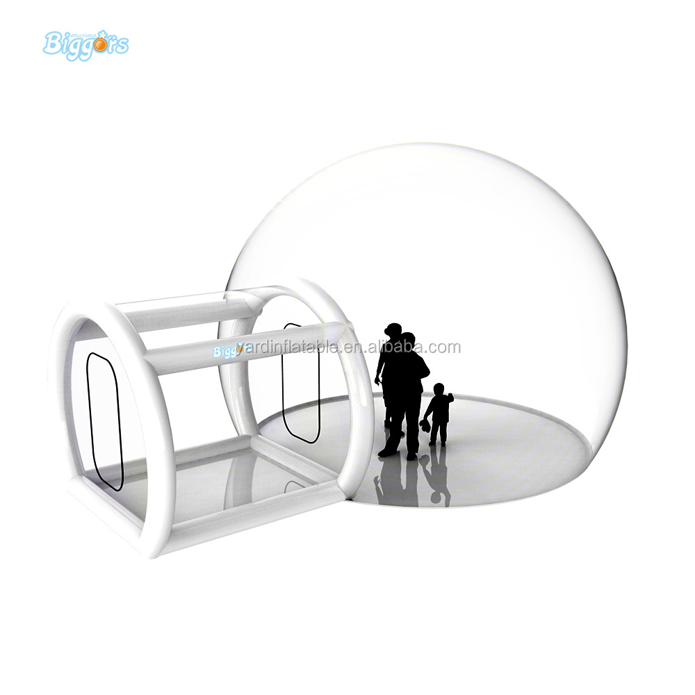 Inflatable Transparent Lodge Bubble Camping Tent With Furniture