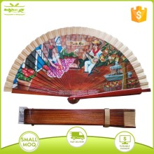 hand painting wooden spanish handheld folding fan