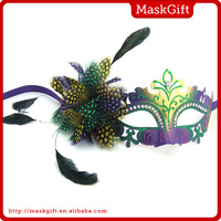 Wholesale feathers plastic masks halloween masks from China