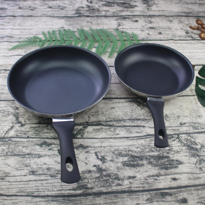 Non Stick Pan Double Sided Pan Non Stick Frying Pan 20cm 24cm With Long Handle