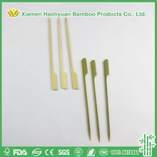 Wholesale Teppo Eco-friendly Natural Disposable Short Flat Bamboo Skewer