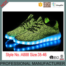 2016 new LED luminous yezzy shoes,cheap sneaker LED shoes