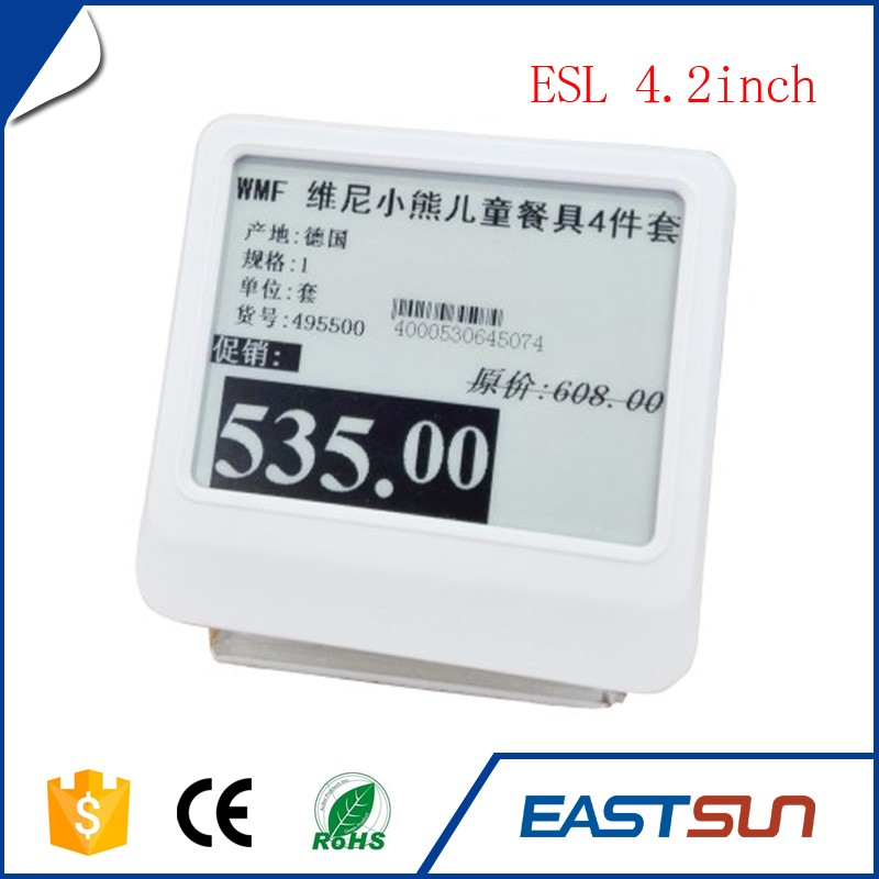 Small shelf label display e paper price tag electronic eink