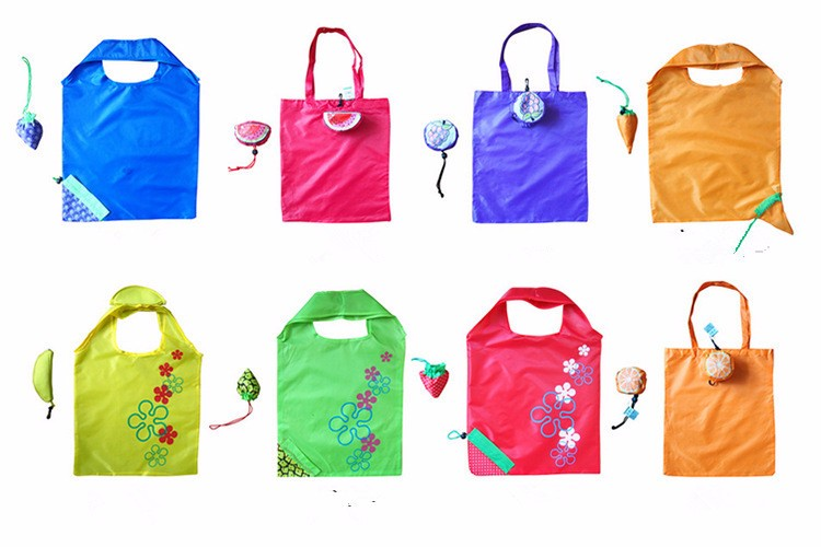 J434 animal reusable polyester foldable bag folding shopping bag