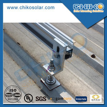 Metal roof solar panel mounting frames with L feet