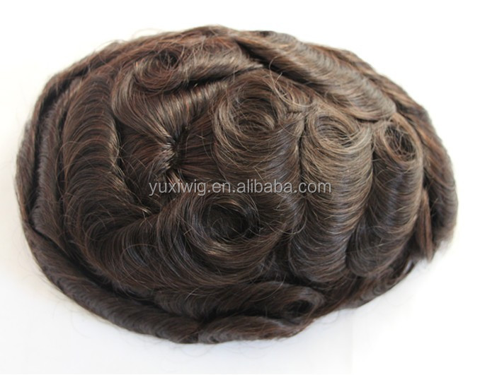100% Indian Remy Hair wigs for men price, men toupee in stock