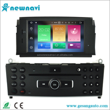 6.2 inch touch screen car radio factory price android car dvd player with gps for Mercedes-Benz C Class W204 2007-2011
