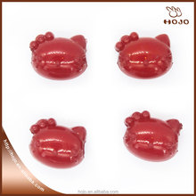 Hello Kitty Plastic beads for kids DIY string of beads Red 14x11mm 16pcs