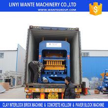 linyi 2017 wante brand machine manual ecological concrete block qt4-24 manufactured in China