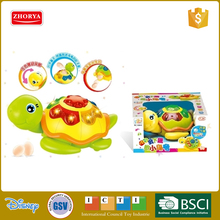 Zhorya new cute 2 colors BO light and music turtle toy with lay egg function