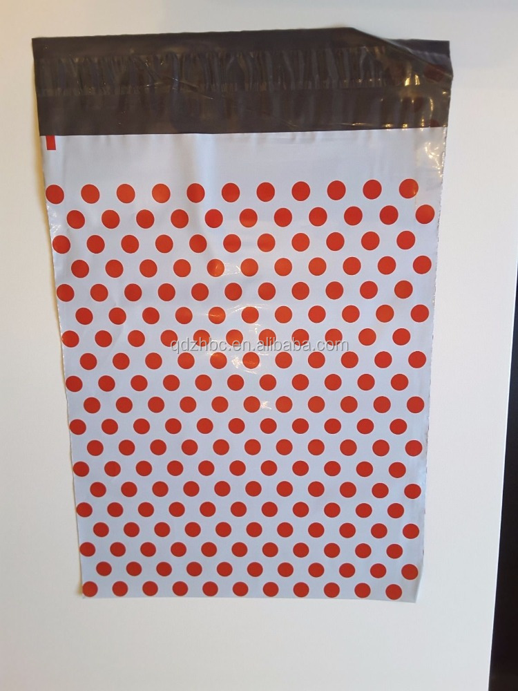 Red Polka Dot Spotty Mailing Bags Strong Self Seal Strip/Polka Dot Mailing Bag