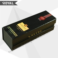 red wine paper box with custom logo