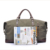 2077 Weekender Genuine Leather Canvas Travel Overnight Carry on Duffle bag for Men